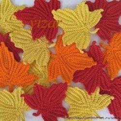 Кленовый лист крючком (Вязаные цветы)