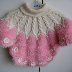 Пончо для девочки  (Вязание спицами)