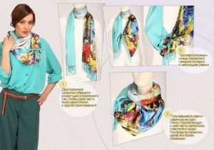 10 вариантов, как необычно завязать шарф или платок