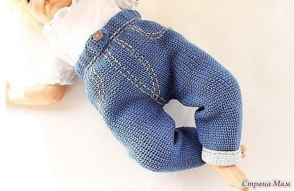 Вязаные «джинсы» для малыша (Вязание спицами) | Журнал ...
