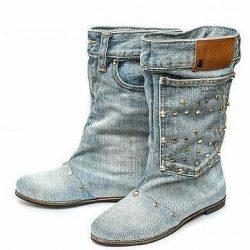 Сапожки из джинсов (Шитье и крой)