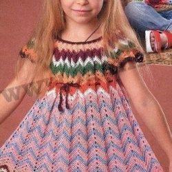 Вязание платья для девочки (Вязание крючком)