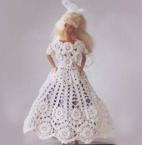Нарядные вязаные платья для куклы (Вязание крючком)