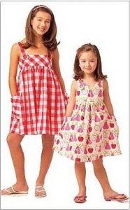 Летний расклешенный сарафан для девочек (Шитье и крой)