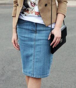 Классическая джинсовая юбка. Размеры выкройки 36-56 (Шитье и крой)