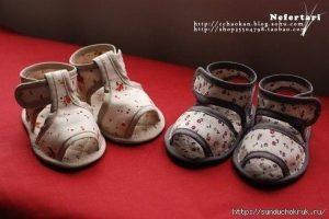 Текстильные сандали для малыша. Мастер-класс (Шитье и крой)