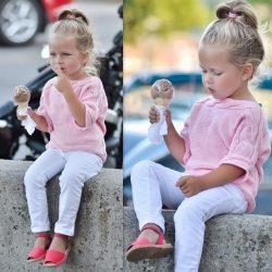 Кофточка для девочки на 2-3 года (Вязание спицами)
