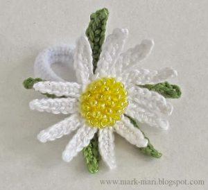 Ромашка крючком (Вязаные цветы)