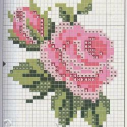Розы. Схемы (Вышивка крестом)