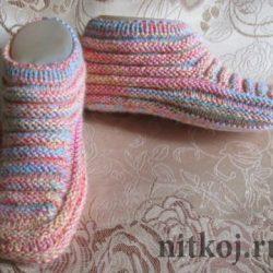 Тапочки (Вязание спицами)