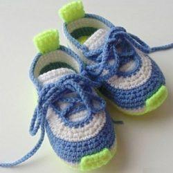 Детские кроссовки крючком схема и описание (Вязание крючком)