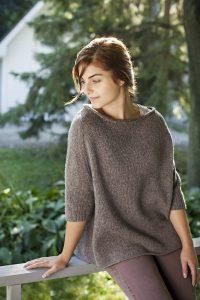 Пуловер оверсайз (Вязание спицами)