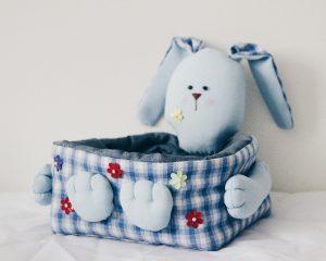 Пасхальная корзинка из ткани своими руками (Шьем игрушки)