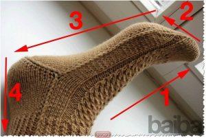 Носочки , связанные на двух спицах (Вязание спицами)