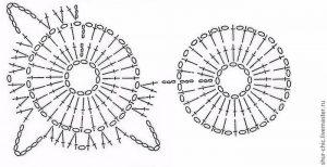 Принцип вязания крючком мотивов безотрывным способом (Уроки и МК по ВЯЗАНИЮ)