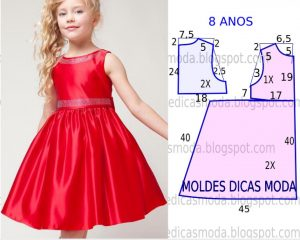 Выкройка платья для девочки 8 лет (Шитье и крой)