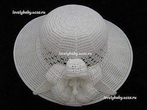 Летняя шляпа (Вязание крючком)