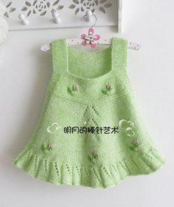 Вязаные сарафаны для девочки 2-3-х лет (Вязание спицами)