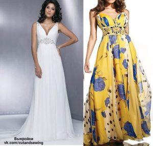 Выкройка платья, размер 36-46 (Шитье и крой)