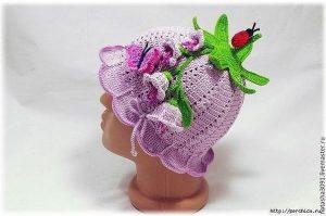 Чудо панамка для девочек «Колокольчик» (Вязание крючком)