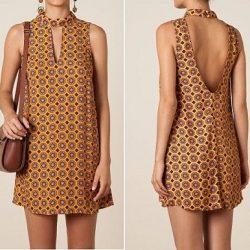 Выкройка короткого платья с открытой спиной (Шитье и крой)