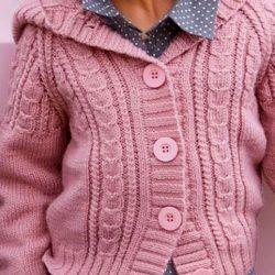 Жакетик с капюшоном от 2 до 10 лет (Вязание спицами)