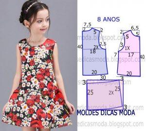 Платье для девочки 7-8 лет выкройка (Шитье и крой)