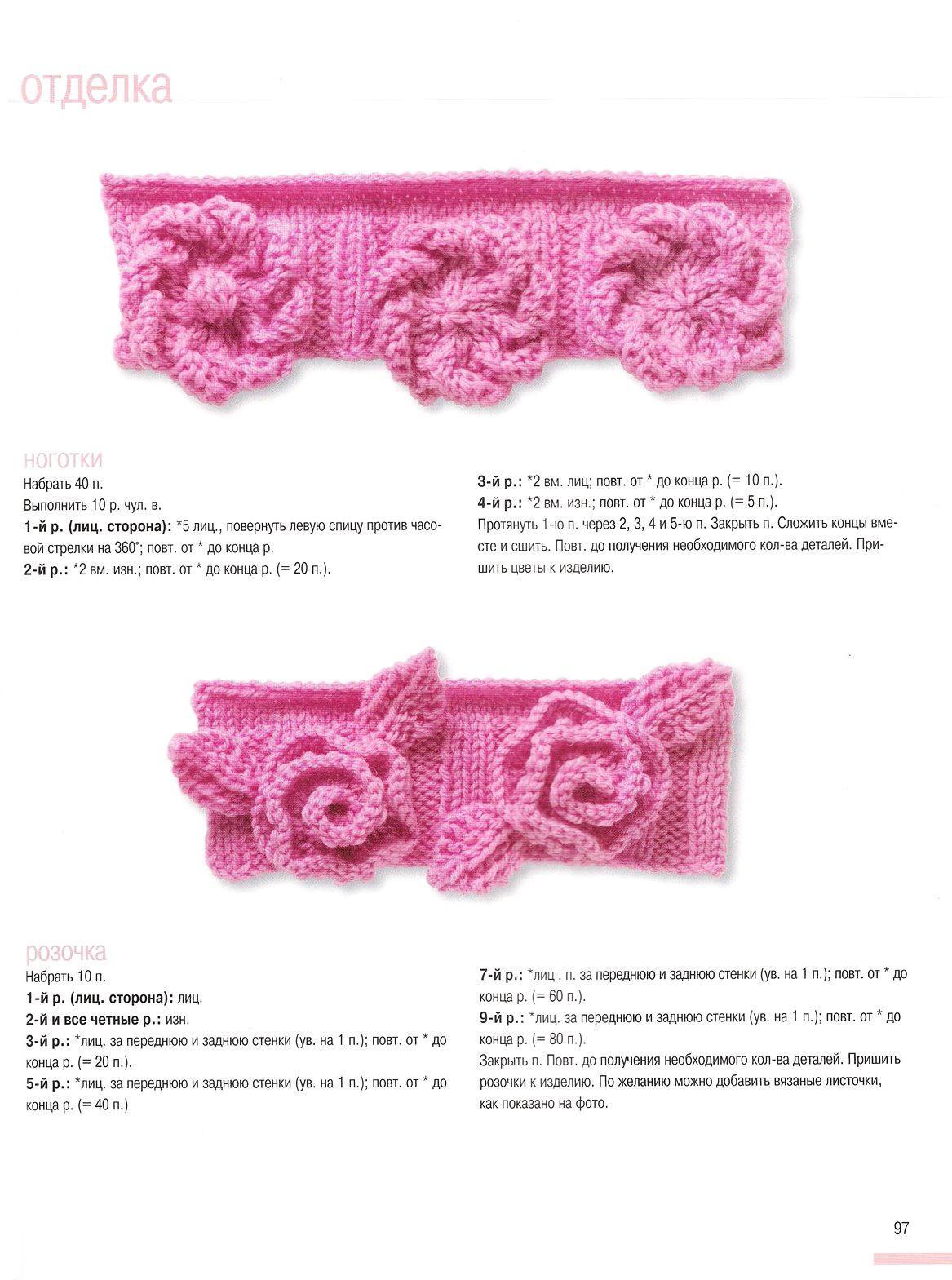 Образцы вязания детских изделий