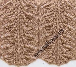 Ажурные узоры для вязания спицами (УЗОРЫ СПИЦАМИ)