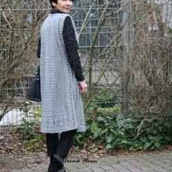 Длинный жилет-сарафан от Ирины Хорн (Вязание крючком)