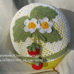 Летние шапочки для девочки (Вязание крючком)
