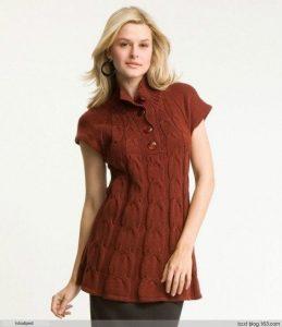 Туника-платье Mac & Jac с «осинки» (Вязание спицами)