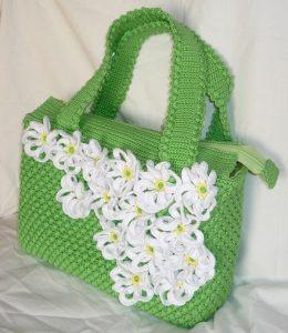 Вязаная сумка с ромашками (Вязание крючком)