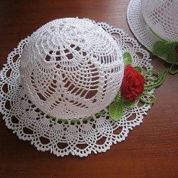 Шляпа крючком с полями (Вязание крючком)