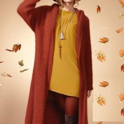 Бесшовное пальто реглан (Вязание спицами)