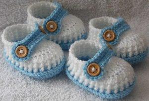 Пинетки-мокасины для малыша (Вязание крючком)