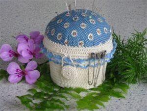 Шкатулка — игольница (Вязание крючком)