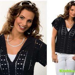 Отличный пуловер из журнала Burda.Creazion (Вязание крючком)