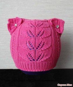 Ажурная шапочка для девочки (Вязание спицами)