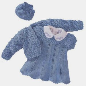 Болеро, платье и шапочка для девочки (Вязание спицами)