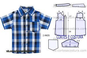 Выкройка рубашки для мальчика 2 года (Шитье и крой)