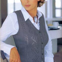 Жилет спицами для женщин схемы и описание (Вязание спицами )