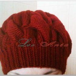 Женская шапка берет спицами с описанием (Вязание спицами)