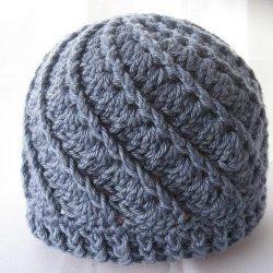 Универсальная шапка женщинам и мужчинам, взрослым и детям (Вязание крючком)