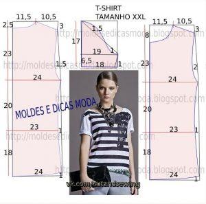 Выкройка женской футболки (Шитье и крой)