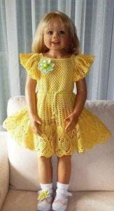 Платье для девочки (Вязание крючком)