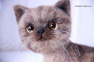 Мастер-класс по валянию игрушки котенка