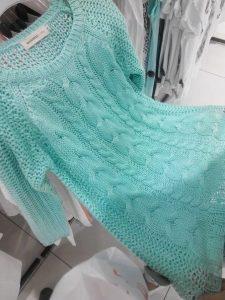 Платье-туника очень свободной вязки  (Вязание спицами)