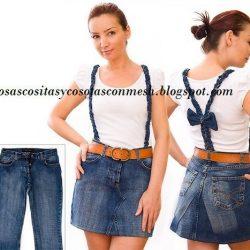 Юбка из старых джинсов своими руками (Шитье и крой)