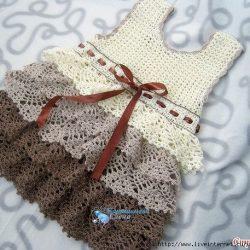 Платье крючком для девочки (Вязание крючком)